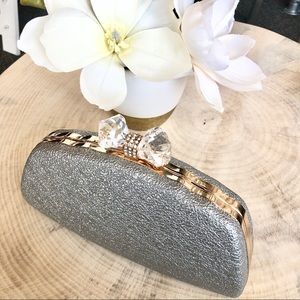 Handbags - Silver and Gold Clutch